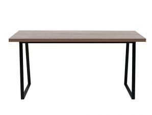 Τραπέζι Ale Sonoma Black 160x80xΗ76cm 02-0364