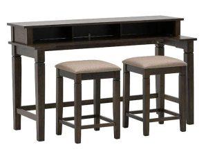 Τραπέζι Με Δύο Σκαμπό Σετ 3Τμχ 3-50-836-0008 152Χ60Χ91/40Χ40Χ60cm Brown Inart