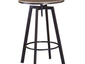Τραπέζι Bar York ΕΜ9793,1Τ 63x63x94/104 (D.60)cm Dark Brown-Wallnut
