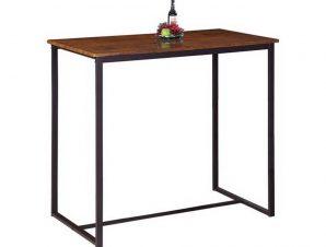 Τραπέζι Μπαρ Henry Dark Brown/Walnut ΕΜ9795,Τ 100x60x86cm
