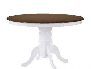 Τραπέζι Nirvana White/Wallnut Ε7680,5 D.106 (+30)x75cm
