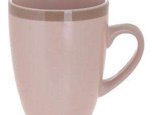 Κούπα Σετ 6τμχ Stoneware inart 8,5×8,5×10εκ. 3-60-332-0006 (Υλικό: Πήλινο, Χρώμα: Ροζ) – inart – 3-60-332-0006