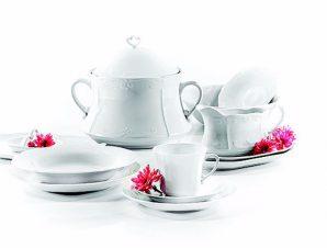 Σερβίτσιο Φαγητού Σετ 72τμχ Πορσελάνης Kamelia White CRYSPO TRIO 41.000.30 (Υλικό: Πορσελάνη, Χρώμα: Λευκό) – CRYSPO TRIO – 41.000.30