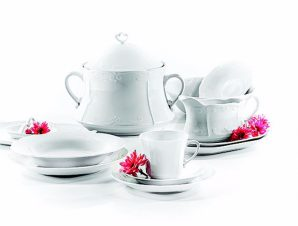Σερβίτσιο Φαγητού Σετ 20τμχ Πορσελάνης Kamelia White CRYSPO TRIO 41.000.40 (Υλικό: Πορσελάνη, Χρώμα: Λευκό) – CRYSPO TRIO – 41.000.40