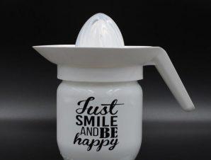 Λεμονοστίφτης Γυάλινος 425ml Just Smile Veltihome 21-13148 White – VELTIHOME – 21-13148-white