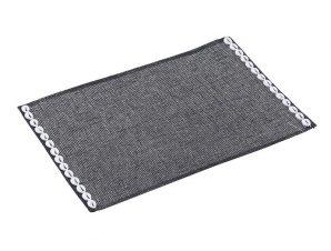 Σετ Σουπλά 6τμχ Υφασμάτινα inart 45×30εκ. 3-60-748-0004 (Χρώμα: Μαύρο) – inart – 3-60-748-0004