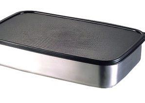 Κουτί Ψυγείο-Φαγητοδοχείο Ανοξείδωτο 18/10 Veltihome 28x18x5εκ. 3671 (Υλικό: Ανοξείδωτο) – VELTIHOME – 3671
