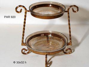 Ορντεβιέρα 2 Όροφη Με βάση Royal Art 30×32εκ. PAR920 (Υλικό: Γυαλί) – Royal Art Collection – PAR920