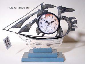 Διακοσμητικό Ρολόι Μεταλλικό Royal Art 37×29εκ. HOM43 (Υλικό: Μεταλλικό) – Royal Art Collection – HOM43