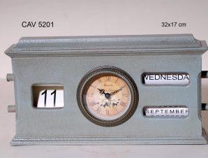 Επιτραπέζιο Ρολόι Ξύλινο Royal Art 32×17εκ. CAV5201 (Υλικό: Ξύλο) – Royal Art Collection – CAV5201