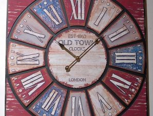 Ρολόι Τοίχου Ξύλινο-Μεταλλικό Royal Art 60×60εκ. HOM06 (Υλικό: Ξύλο) – Royal Art Collection – HOM06