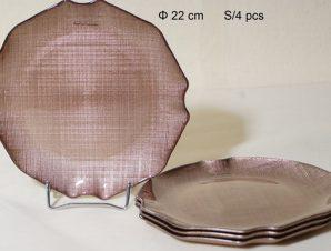 Σετ Πάστας 4τμχ Γυάλινα Royal Art 22εκ. AKA7/55B (Υλικό: Γυαλί) – Royal Art Collection – AKA7/55B