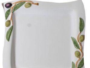 Πιατέλα Σερβιρίσματος Φαγιάνς Royal Art 26×26εκ. LUM1917 (Χρώμα: Λευκό, Υλικό: Φαγιάνς) – Royal Art Collection – LUM1917
