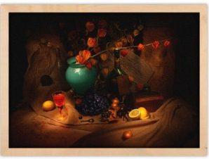 Σταφύλια και κρασί Φαγητό Πίνακες σε καμβά 43 x 60 cm