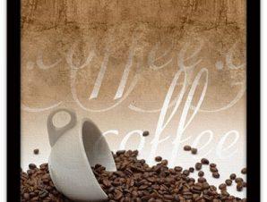Κόκκοι καφέ Φαγητό Πίνακες σε καμβά 48 x 50 cm