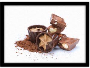 Σοκολατένιες γέυσεις Φαγητό Πίνακες σε καμβά 47 x 60 cm