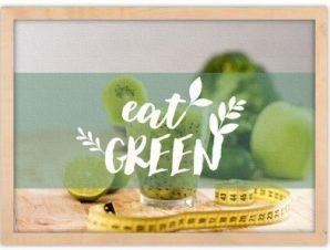 Eat Green Φαγητό Πίνακες σε καμβά 40 x 60 cm