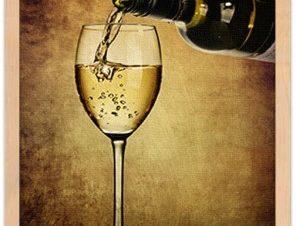 Λευκό κρασί Φαγητό Πίνακες σε καμβά 60 x 40 cm