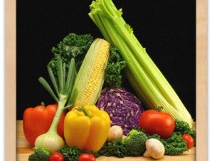 Φρέσκα πολύχρωμα λαχανικά Φαγητό Πίνακες σε καμβά 49 x 48 cm