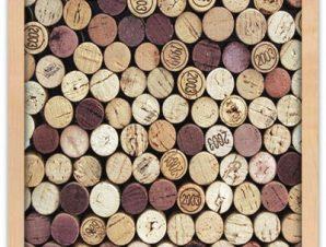 Φελλοί από μπουκάλια κρασιών Φαγητό Πίνακες σε καμβά 50 x 55 cm