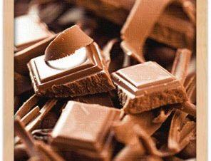 Κομμάτια σοκολάτας Φαγητό Πίνακες σε καμβά 60 x 40 cm