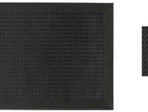 Σουβέρ Σετ 6τμχ Polyester ESPIEL 10×10εκ. HEN103 (Ύφασμα: Polyester, Χρώμα: Μαύρο) – ESPIEL – HEN103