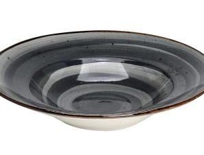 Πιάτο Σπαγγέτι Πορσελάνης Terra Grey ESPIEL 27εκ. TLG120K6 (Υλικό: Πορσελάνη, Χρώμα: Μαύρο) – ESPIEL – TLG120K6