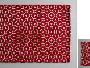 Σουβέρ Σετ 6τμχ Polyester ESPIEL 10×10εκ. HEN212 (Ύφασμα: Polyester, Χρώμα: Κόκκινο) – ESPIEL – HEN212
