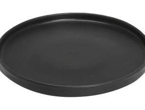 Πιάτο Ρηχό Πορσελάνης Terra Matt Black ESPIEL 27εκ. TLM131K4 (Υλικό: Πορσελάνη, Χρώμα: Μαύρο) – ESPIEL – TLM131K4