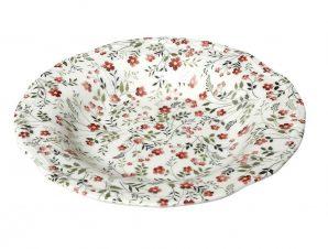 Πιάτο Βαθύ Stoneware Blossom ESPIEL 24εκ. RPL202K6 (Χρώμα: Ροζ, Υλικό: Stoneware) – ESPIEL – RPL202K6