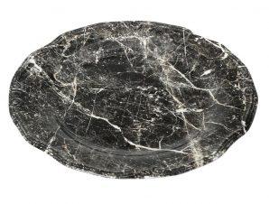 Πιατέλα Σερβιρίσματος Stoneware Marble ESPIEL 33εκ. RPM209K2 (Χρώμα: Λευκό, Υλικό: Stoneware) – ESPIEL – RPM209K2