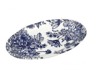 Πιατέλα Σερβιρίσματος Stoneware English ESPIEL 22×14εκ. RPN208K6 (Χρώμα: Λευκό, Υλικό: Stoneware) – ESPIEL – RPN208K6