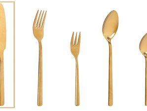 Μαχαίρι Φαγητού Ανοξείδωτο 18/0 Fortune ESPIEL 22,5εκ. CUG301K12 (Υλικό: Ανοξείδωτο, Χρώμα: Χρυσό ) – ESPIEL – CUG301K12
