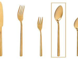 Κουτάλι Φαγητού Ανοξείδωτο 18/0 Fortune ESPIEL 20,5εκ. CUG303K12 (Υλικό: Ανοξείδωτο, Χρώμα: Χρυσό ) – ESPIEL – CUG303K12