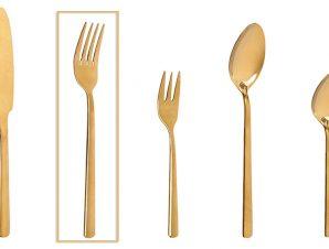 Πηρούνι Φαγητού Ανοξείδωτο 18/0 Fortune ESPIEL 20,5εκ. CUG304K12 (Υλικό: Ανοξείδωτο, Χρώμα: Χρυσό ) – ESPIEL – CUG304K12