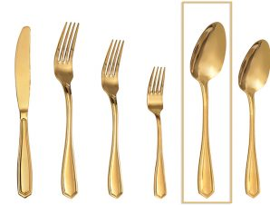 Κουτάλι Φαγητού Ανοξείδωτο 18/0 Empire ESPIEL 20,5εκ. GYG203K12 (Υλικό: Ανοξείδωτο, Χρώμα: Χρυσό ) – ESPIEL – GYG203K12