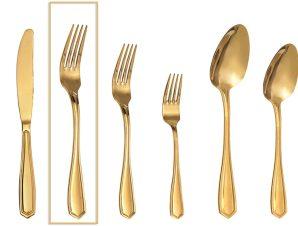 Πηρούνι Φαγητού Ανοξείδωτο 18/0 Empire ESPIEL 20,7εκ. GYG204K12 (Υλικό: Ανοξείδωτο, Χρώμα: Χρυσό ) – ESPIEL – GYG204K12