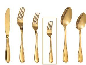 Πηρουνάκι Γλυκού Ανοξείδωτο 18/0 Empire ESPIEL 15,6εκ. GYG208K12 (Υλικό: Ανοξείδωτο, Χρώμα: Χρυσό ) – ESPIEL – GYG208K12