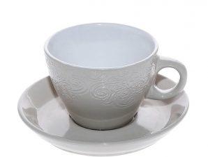 Φλυτζάνι Με Πιατάκι Cappuccino Stoneware 330ml Μπεζ Vienna ESPIEL HUN119K6 (Χρώμα: Μπεζ, Υλικό: Stoneware) – ESPIEL – HUN119K6