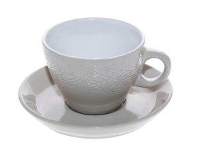 Φλυτζάνι Με Πιατάκι Espresso Stoneware 90ml Vienna Beige ESPIEL HUN127K6 (Χρώμα: Μπεζ, Υλικό: Stoneware) – ESPIEL – HUN127K6