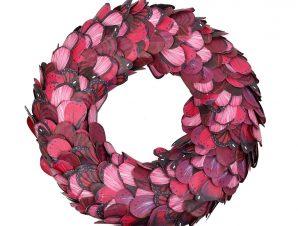Διακοσμητικό Στεφάνι Χάρτινο ESPIEL 40εκ. FTE307 (Υλικό: Χαρτί, Χρώμα: Ροζ) – ESPIEL – FTE307
