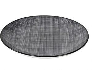 Πιάτο Ρηχό Stoneware Linea Grey ESPIEL 27εκ. ATA102K6 (Χρώμα: Μαύρο, Υλικό: Stoneware) – ESPIEL – ATA102K6
