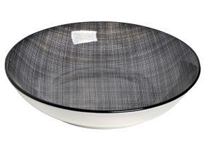 Πιάτο Βαθύ Stoneware Linea Grey ESPIEL 21εκ. ATA108K6 (Χρώμα: Μαύρο, Υλικό: Stoneware) – ESPIEL – ATA108K6