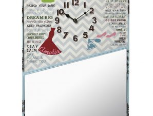 Ρολόι-Καθρέπτης Μεταλλικό ESPIEL 39,5×54,5εκ. LOG417 – ESPIEL – LOG417