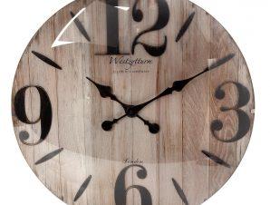 Ρολόι Τοίχου Polyresin Μπεζ ESPIEL 50,6×5,5×50,6εκ. ROL507 (Υλικό: Polyresin, Χρώμα: Μπεζ) – ESPIEL – ROL507