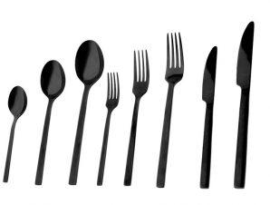Πηρούνι Φαγητού Ανοξείδωτο 18/0 Divine ESPIEL 21,2εκ. CUB204K12 (Υλικό: Ανοξείδωτο, Χρώμα: Μαύρο) – ESPIEL – CUB204K12