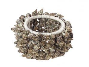 Δαχτυλίδι Πετσέτας Μεταλλικό Με Κοχύλια Μπεζ ESPIEL 6,45εκ. YRA211K6 (Υλικό: Μεταλλικό, Χρώμα: Μπεζ) – ESPIEL – YRA211K6