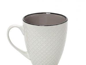 Κούπα Stoneware 330ml Γκρι-Κρεμ Cookie Delight ESPIEL HUN404K6 (Χρώμα: Γκρι, Υλικό: Stoneware) – ESPIEL – HUN404K6