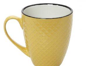 Κούπα Stoneware 560ml Κίτρινο-Κρεμ Cookie Delight ESPIEL HUN405K6 (Χρώμα: Κίτρινο , Υλικό: Stoneware) – ESPIEL – HUN405K6