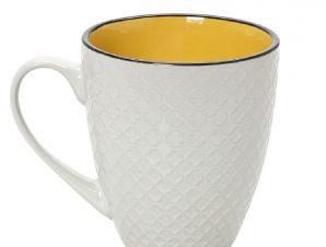 Κούπα Stoneware 560ml Κίτρινο-Κρεμ Cookie Delight ESPIEL HUN406K6 (Χρώμα: Κίτρινο , Υλικό: Stoneware) – ESPIEL – HUN406K6